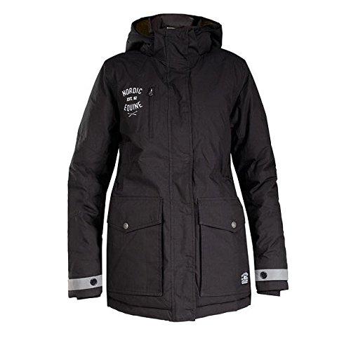 Restposten-Warmer-Parka-Unisex-Jacke-schwarz-mit-Reflex-Elementen