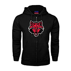 Arkansas State Champion Black Fleece Full Zip Hood