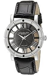 Stuhrling Original Men's 881.02 Winchester Swiss Quartz Black Genuine Leather Strap Watch