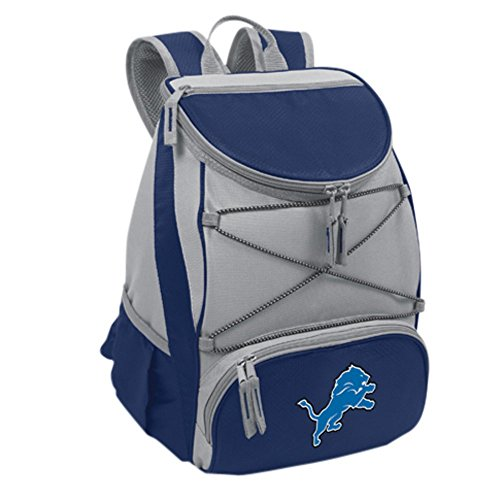 NFL Detroit Lions PTX Insulated Backpack Cooler, Navy at Steeler Mania
