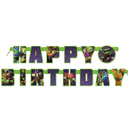5.5ft Teenage Mutant Ninja Turtles Birthday Banner (Ninja Birthday Banner compare prices)