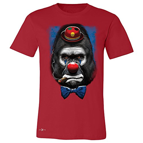 Gorilla Clown Sad Scary Men's T-shirt Halloween Costume Event Tee Red XXX-Large
