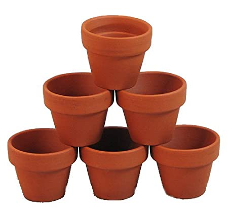 Hirts: House Plant Clay Pots Via Amazon