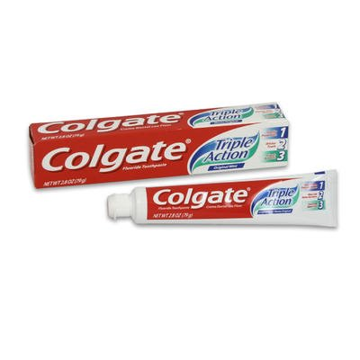 Colgate Triple Action Toothpaste 2.8 Oz Travel Size (Pack of 12)
