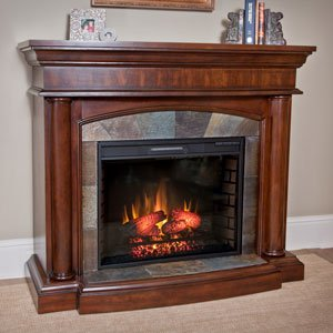 ChimneyFree Aspen Electric Fireplace Mantel Package in Meridian Cherry - 28WM1751-C248 image B00GMKX9KA.jpg