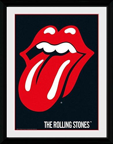 Rolling Stones - Lips Poster Da Collezione Incorniciato (40 x 30cm)