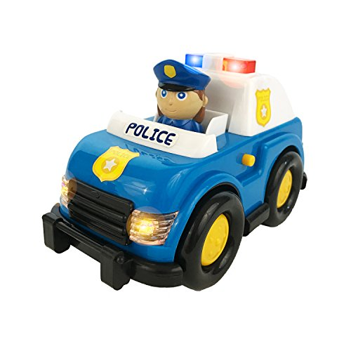 Boley Light and Sound Police Car Toy - Electric siren with flashing lights - perfect educational toy for toddlers that seek imaginative and pretend play (Top Cars compare prices)