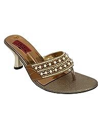 Belson Faux Leather Party Wear Heels For Women - B0152TV160