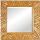 Chisel Arts Mahogany Wood Carved Decorative Mirror Frame