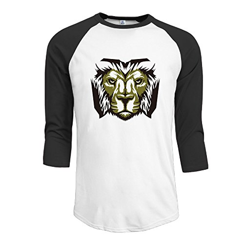 [Yesher Men's Zyuoh Lion Logo 3/4 Sleeve Athletic Jersey - X-Large] (Lion Costume Philippines)