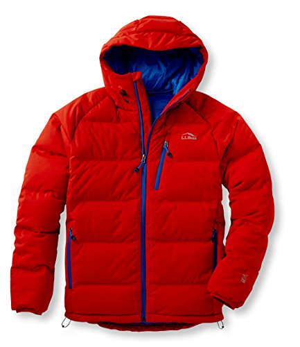 L.L.Bean Mens Wind Challenger Down Jacket Red Large<br />