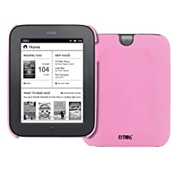 Pink Rubberized Stealth Hard Case Cover for Barnes and Noble Nook Simple Touch / Noble Nook Simple Touch with GlowLight