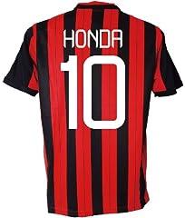 2013-14年版大人用ユニフォーム ACミランタイプ ホーム #10 本田圭佑 上下セットレプリカユニフォーム XL