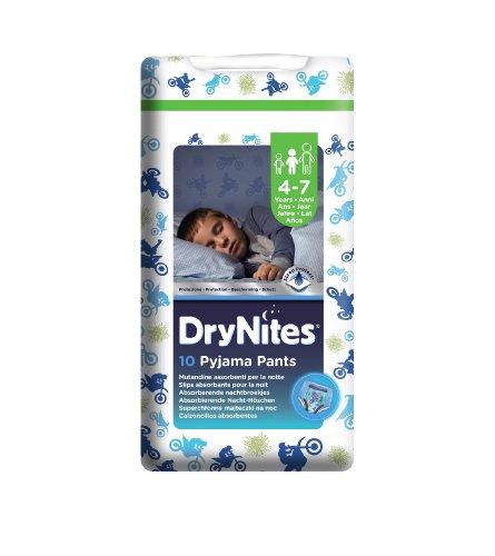 Huggies Drynites Pyjama Pants - Boy Size 4-7 Years (17 To 30 Kg) - Pack Of 10 Pyjama Pants
