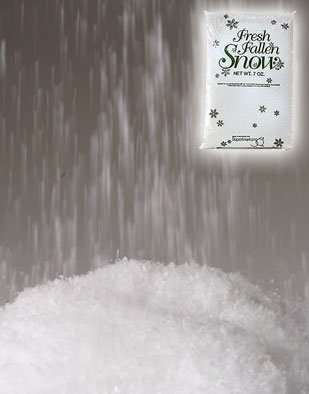 3.5 oz Bag of White Christmas Decoration Snow