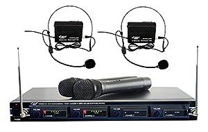 pyle pdwm4300 vhf wireless rack mount microphone system 2 handheld mics 2 belt. Black Bedroom Furniture Sets. Home Design Ideas