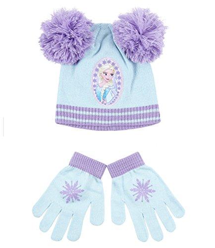 Disney Frozen - Il regno di ghiaccio Ragazze Confezioni 2 pezzi: berretto e guanti - blu - 54