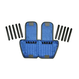 The Adjustable Cuff_ ankle weight - 10 lb. - 20 x 0.5 lb. inserts - Blue - each