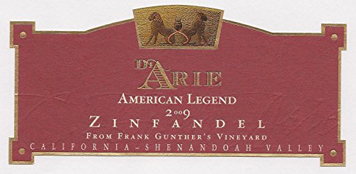 2009 C. G. Di Arie Cellar Select Wines Zinfandel American Legend