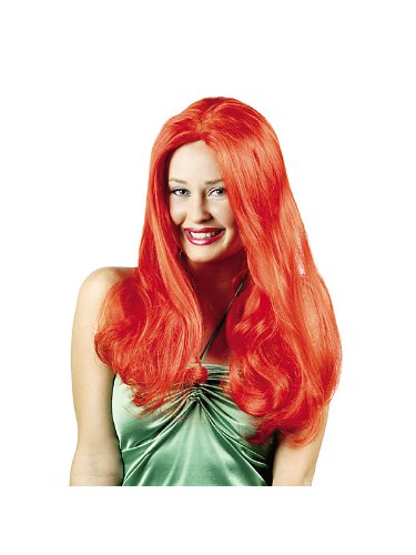 Deluxe Red Ariel Wig Adult