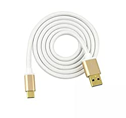 Type C Cable,Z-Roya(TM) 3.0 USB-A to 3.1 Type C (USB C) Cable 6ft Metal Charge & Sync for Type-C Supported Devices Charging Data Sync Transfer 10GB/S SUT03TW(White)