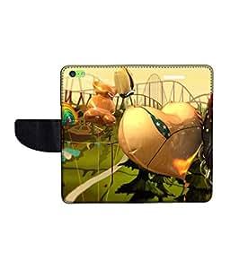 KolorEdge Printed Flip Cover For Apple IPhone 5C Multicolor - (43KeMLogo10385IPhone5C)
