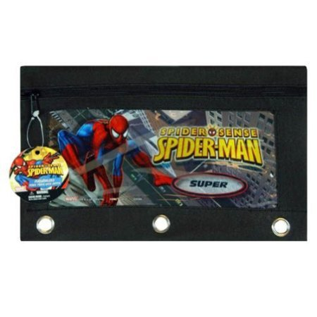 Spiderman 3 Ring Pencil Pouch w/ Zipper