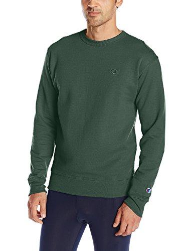 Champion Men's Powerblend Pullover Sweatshirt, Dark Green, Medium