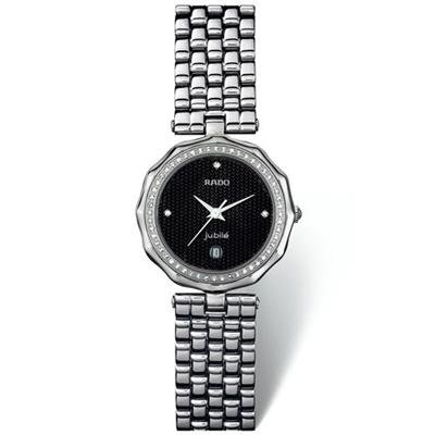 RADO Watch:Rado Florence Jubil? Men's Women's Unisex Watch, Silver Stainless Steel, 55 Diamonds, Date Display Images