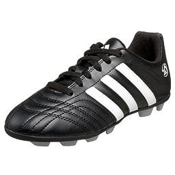 adidas Little Kid/Big Kid Goletto TRX HG Soccer Cleat,Black/Running White/Running White,10 M US Toddler