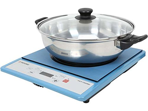 Tatung Tict-1502mu Portable Induction Cooktop with Stainless Steel Pot