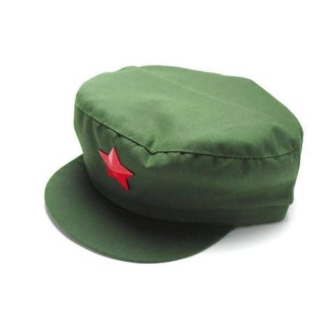 人民帽 【Lサイズ】 中国人民解放軍タイプ 中国コスプレ 中国帽子 星徽章