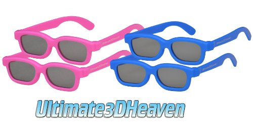 4 pairs - Children's Passive 3D Glasses for Kids