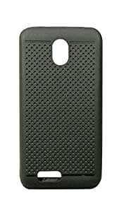 CELZO Dotted Silicon Back Cover Case for Reliance Jio Lyf Flame 8