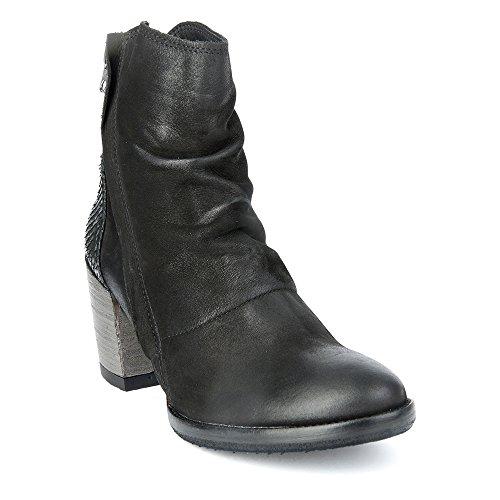 Felmini - Scarpe Donna - Innamorarsi com Carmen 9017 - Stivali Alti Classic - Genuine Pelle - Nero - 42 EU Size