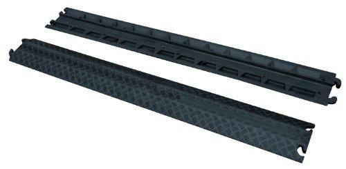 Vestil MRHR-39 Black Molded Rubber Cable Guard, 2200 lbs Capacity, 39