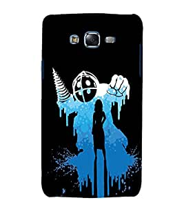 printtech Cool Designer Girl Drill Back Case Cover for Samsung Galaxy Grand 3 G720 / Samsung Galaxy Grand Max G720