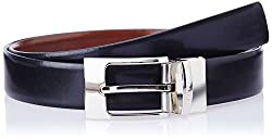 Covo Black and Brown Leather Men's Formal Belt (AXB01-40)