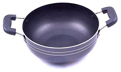 Tosmy TSKD11 Aluminium Kadhai (19 cm, 1.25 L)