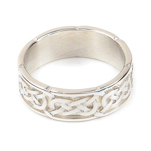 Ortak Jewellery Celtic Collection Sterling Silver R 126 Unisex Band Ring - Size O