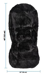 Gray Universal Fit Eurow Sheepskin Seat Cover, Premium Pelt