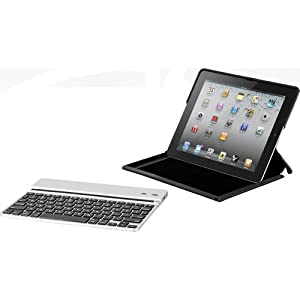 Zagg ZAGGfolio for Apple iPad 2 Carbon with Silver Keyboard (LEACSIPAD2)