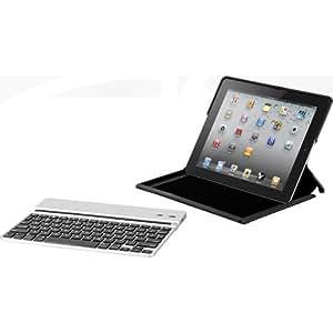 Zagg ZAGGfolio for Apple iPad 2 + Removable Bluetooth Silver Keyboard (LEACSIPAD2)