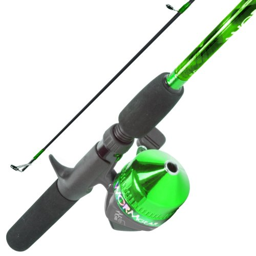South Bend Worm Gear Fishing Rod and Spincast Reel Combo, Green