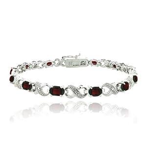 6.6ct Garnet & Diamond Accent Infinity Bracelet