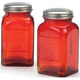 RSVP Retro Red Glass Salt &#038; Pepper <a style=