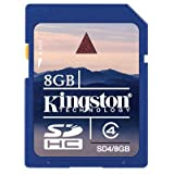 Kingston 8GB SD Card for Nintendo-Wii Game Console