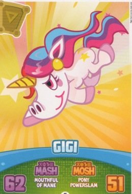 Moshi Monsters Serie 3 Code Breakers No. 036 GIGI - Micro Text Individuelle Trading Card