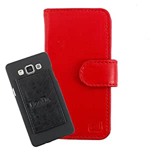 DooDa Genuine Leather Wallet Flip Case Cover With Card & ID Slots For Micromax Canvas Amaze - Back Cover Not Included Peel And Paste