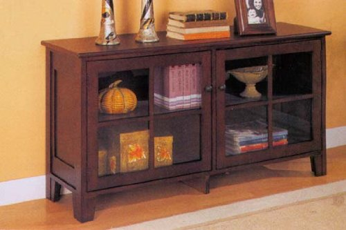 Cheap Cappuccino Finish TV Stand And Console Table (B000I1C7N4)